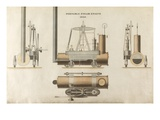 Portable Steam Engine  Designed by Maudsley  Sons and Field  1828 (Pen and Ink and W/C on Paper)