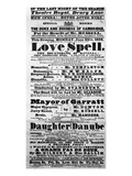 Playbill Announcing a Performance of 'Love Spell' at the Behest of Duke and Duchess of Cambridge