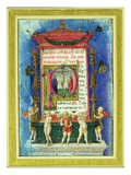 Historiated Initial 'P' Depicitng the Crucifixion  Page from a Book of Hours (Vellum)