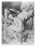 Susanna and the Elders  Drawn by Lucas Vorsterman  C1620 (Chalk  Pen and Ink on Paper)
