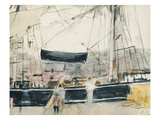 Boat on the Quay  1875 (W/C on Paper)