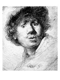 Self Portrait  1630 (Etching)