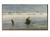 Gathering Driftwood  Holland  1877