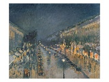 The Boulevard Montmartre at Night  1897 (Oil on Canvas)