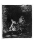 The Flight into Egypt  1651 (Etching)