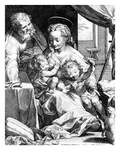 The Holy Family  Engraved by Cornelis Cort  1577 (Engraving)