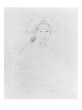 Head of a Woman (Verso) (See 383972 Recto) 1893  (Pencil on Paper)