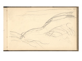 Cliff Below Dieppe (Pencil on Paper)