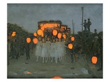 The Lantern Parade C1918 (Oil on Canvas)