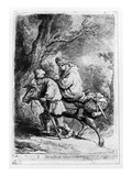 The Flight into Egypt  1633 (Etching)