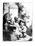 Joseph's Coat Brought to Jacob  C1633 (Etching)
