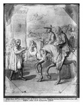 Louis Xiv Receiving the Submission of a Town (Pen and Ink and Indian Ink Wash Paper)
