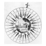 Compass with a Scene of Surveying (Engraving)