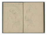 Julie Manet at the Villa Ratti  Cimiez  from a Sketchbook  1888-89 (Pencil on Paper)