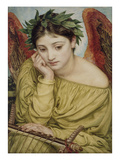 Erato  Muse of Poetry  1870 (W/C on Paper)