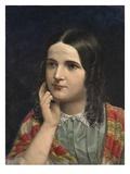Rosa Brett  1855 (Oil on Board)