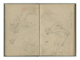 Diana at the Bath  from a Sketchbook  1886 (Pencil on Paper)