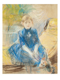 Little Girl with a Blue Jersey  1886 (Pastel on Canvas)