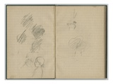 Head of a Young Girl  Duck and Swan  from a Sketchbook  1886 (Pencil on Paper)