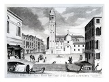 A View of Santi Apostoli  Venice (Engraving)