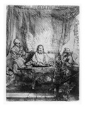 Supper at Emmaus  1654 (Etching)