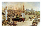 The Port of Bordeaux  1871 (Oil on Canvas)