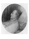 Gioacchino Rossini on His Deathbed  1868 (Charcoal and Gouache Highlights on Paper)
