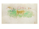 Cows in Normandy  1880 (W/C on Paper)
