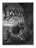 Titlepage to 'London' by Gustave Dore and Blanchard Jerrold  Engraved by Stephane Pannemaker  1872