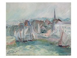 Boats in the Port of Honfleur  1917 (Oil on Canvas)