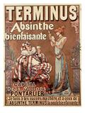 'Terminus Absinthe  Bienfaisante'  1896 (Colour Litho)