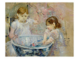 Children at the Basin  1886 (Oil on Canvas)