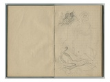 Landscape and Female Sketches  from a Sketchbook  1888-89 (Pencil on Paper)