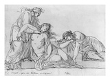 Old Woman Leaning over Two Fainting Women  C1776