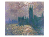 Parliament  Reflections on the Thames  1905 (Oil on Canvas)