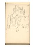 Mont Saint-Michel (Pencil on Paper)