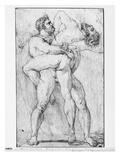 Hercules Strangling Antaeus (Graphite Pencil on Paper)