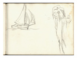 Sketch of Boats (Pencil on Paper)