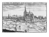 Town and Memorable Abbey of Saint-Denis (Engraving)