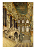 Staircase of the Winter Palace (W/C on Paper)