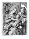 The Holy Family  Engraved by Marcantonio Raimondi  C1515 (Engraving)