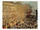 Boulevard Des Capucines  1873 (Oil on Canvas)