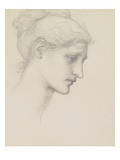 Study for Laus Veneria  C1875 (Pencil on Paper)