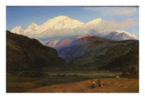Mont Blanc from Servoz  1856 (Oil on Canvas)