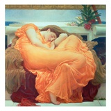 Flaming June  C1895 (Oil on Canvas)