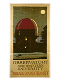 Observatory Northwestern University  Poster for the Chicago Rapid Transit Company  USA  1925