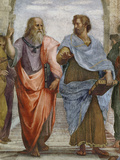 Aristotle and Plato: Detail of School of Athens  1510-11 (Fresco) (Detail of 472)