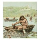 Ancient Briton in His Boat