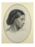 Head of a Girl  1860 (Pencil on Paper)