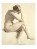 Life Study (Pastel and Pencil on Paper)